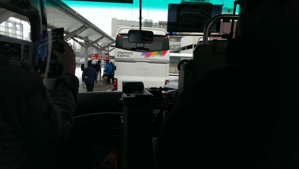アルピコのバスに乗り換え