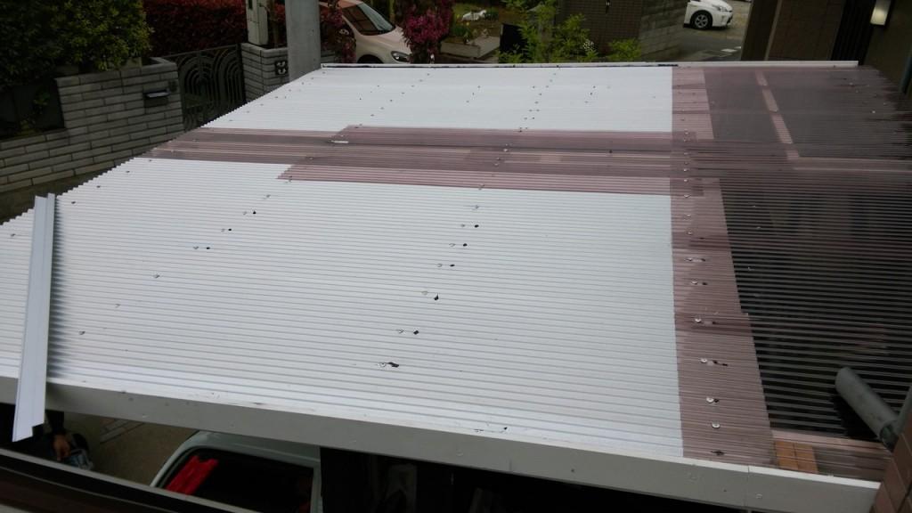 屋根完成!